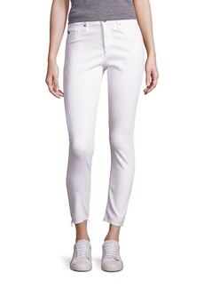 AG Adriano Goldschmied Farrah High-Rise Cropped Raw Hem Jeans