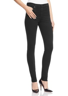 Ag Farrah High-Rise Sateen Skinny Jeans in Black