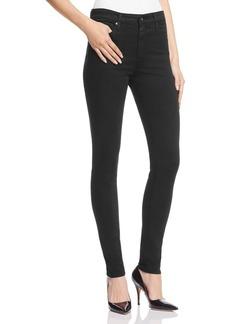 AG Farrah High-Rise Sateen Skinny Jeans in Black