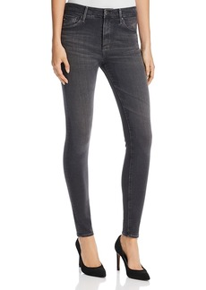 Ag Farrah High Rise Skinny Jeans in Grey Mist