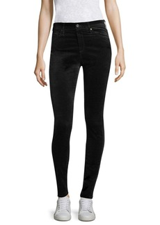 AG Adriano Goldschmied Farrah High-Rise Velvet Pants
