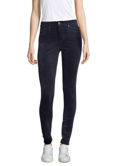 AG Adriano Goldschmied Farrah High-Rise Velvet Skinny Pants