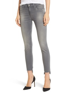 AG Farrah High Waist Ankle Skinny Jeans (10 Years Grey Shadow)
