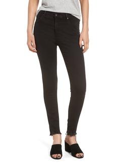 AG Farrah High Waist Ankle Skinny Jeans (Black Storm)