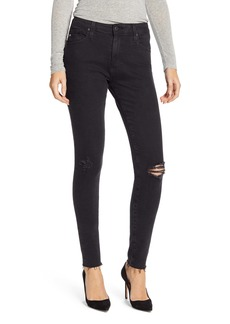 AG Adriano Goldschmied AG Farrah High Waist Skinny Jeans (Altered Black Destructed)