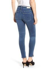 AG Adriano Goldschmied AG Farrah High Waist Split Hem Skinny Jeans (Crystal Clarity)