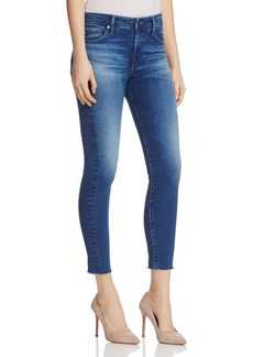 AG Farrah Raw Hem Skinny Ankle Jeans in Native Dew