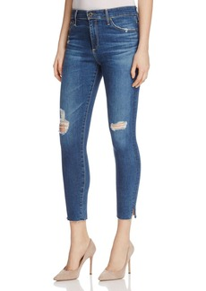 AG Farrah Skinny Ankle Jeans in Interim Destroyed