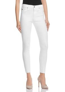 AG Farrah Skinny High-Rise Ankle Jeans in White