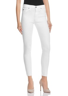 Ag Farrah Skinny High-Rise Ankle Jeans in White