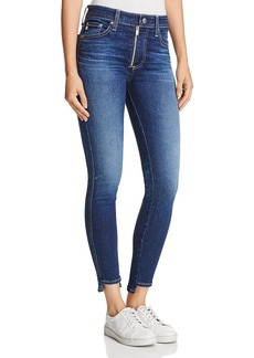 Ag Farrah Zip-Front Skinny Ankle Jeans in 5 Years Indigo Avenue