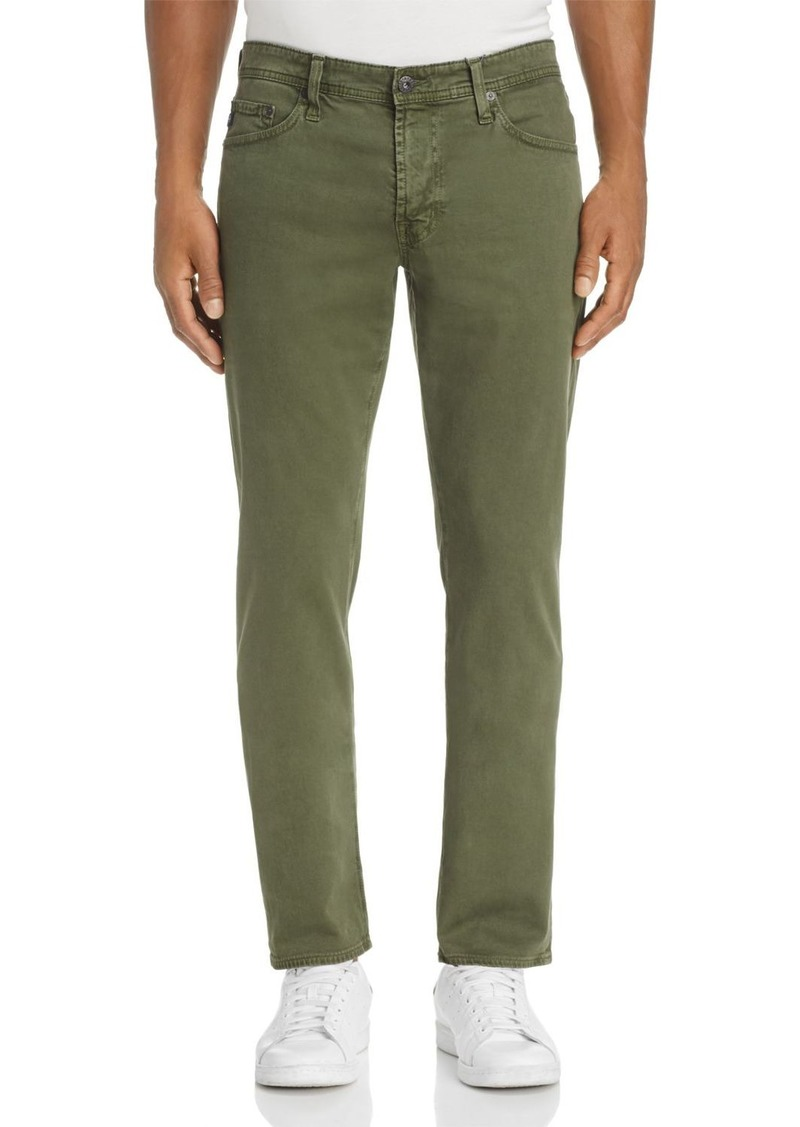 AG Adriano Goldschmied AG Graduate Tapered Fit Twill Pants in Sulfur Climbing Ivy