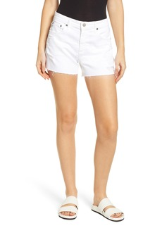 AG Adriano Goldschmied AG Hailey Boyfriend Cutoff Denim Shorts (1 Year Low White)