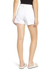 AG Adriano Goldschmied AG Hailey Boyfriend Cutoff Denim Shorts (1 Year Low White)