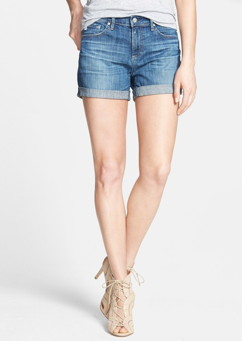 AG Adriano Goldschmied AG 'Hailey' Cuff Denim Shorts (10 Years Santa Ana)