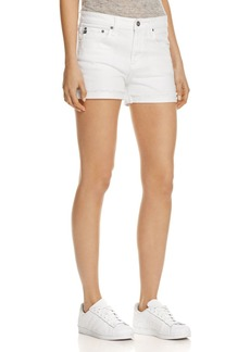 AG Hailey Denim Shorts in White