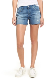 AG Hailey High Waist Cutoff Denim Shorts (14 Years Open Air)