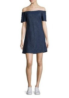 AG Adriano Goldschmied AG Harely Off-the-Shoulder Denim Dress