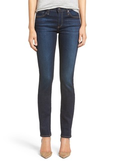 AG 'Harper' Slim Straight Leg Jeans (Overdyed Black)