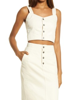 AG Adriano Goldschmied AG Hebe Button-Up Crop Tank