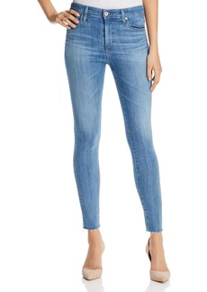 AG Farrah Raw Hem Skinny Ankle Jeans in Ceased Wind
