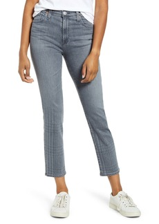 AG Adriano Goldschmied AG Isabelle Crop Jeans (Gray Light Plaid Ombré)