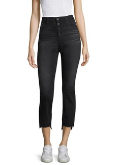 AG Isabelle Button-Up Crop Jeans