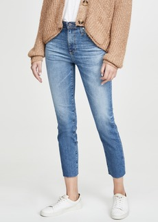 AG Adriano Goldschmied AG Isabelle High Rise Straight Crop Jeans