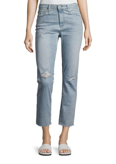 AG Isabelle High-Rise Straight Cropped Jeans
