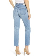 AG Adriano Goldschmied AG Isabelle High Waist Split Hem Ankle Straight Leg Jeans (19 Years Hollow)