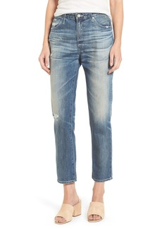 AG Isabelle High Waist Straight Leg Crop Jeans (23 Years Wind Worn)