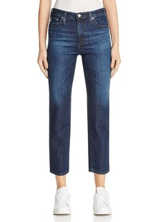 AG Isabelle Straight Crop Jeans in 7 Years Preen