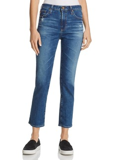 AG Isabelle Straight Crop Jeans in 8 Year Infamy