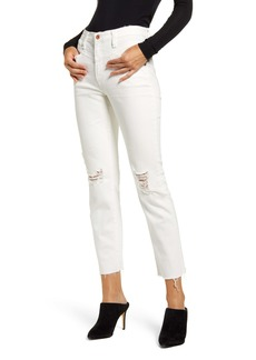 AG Adriano Goldschmied AG Isabelle X Ripped High Waist Raw Hem Ankle Jeans (Bright Glory)