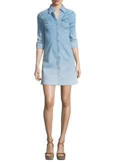 AG Adriano Goldschmied AG Jacqueline Button-Front Chambray Shirtdress