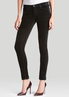 AG Super Skinny Velvet Jeans in Super Black