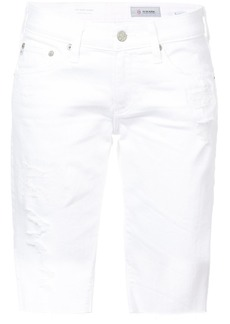 AG Adriano Goldschmied Ag Jeans distressed denim shorts - White