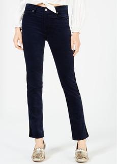 AG Adriano Goldschmied Ag Jeans Mari Straight-Leg Velvet Tuxedo Jeans