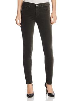 Ag Jeans Super Skinny Velvet Leggings in Climbing Ivy