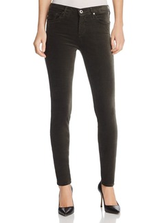AG Jeans Super Skinny Velvet Leggings in Climbing Ivy