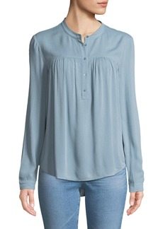 AG Adriano Goldschmied Jess Quarter-Placket Long-Sleeve Shirt