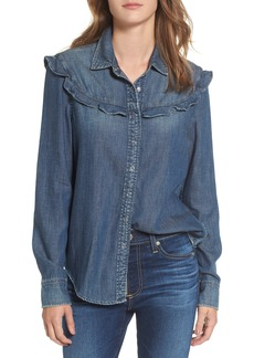 AG Joanna Ruffle Denim Shirt