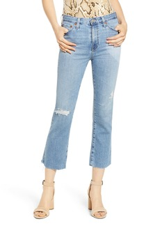 AG Adriano Goldschmied AG Jodi Distressed Crop Flare Jeans (19 Years Hollow Destructed)