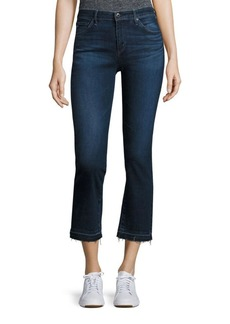 AG Adriano Goldschmied AG Jodi High-Rise Cropped Flared Raw Hem Jeans