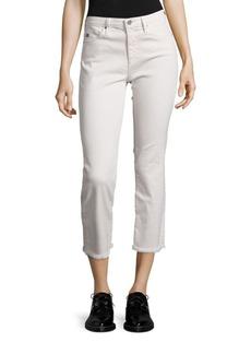 AG Jodi High-Rise Raw Hem Cropped Flared Jeans