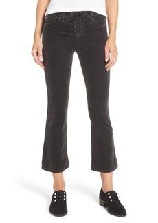 AG Jodi Lace-Up Crop Jeans (Rich Mercury)