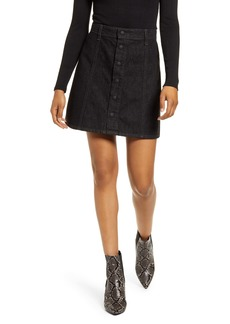 AG Adriano Goldschmied AG Kety Snap Front Denim Skirt