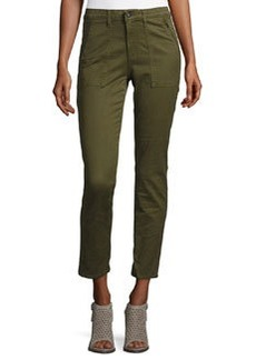 AG Kinsley Sulfur Palm Green Twill Ankle Jeans