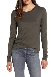 AG Adriano Goldschmied AG LB Long Sleeve Stretch Cotton Top