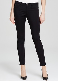 Ag Legging Ankle Jeans in Black Stretch Sateen